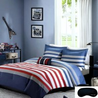 Blue And White Striped Bedding - Home Ideas