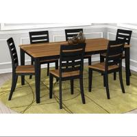 7-Pc Rectangular Dining Table and Chair Set with Table ...