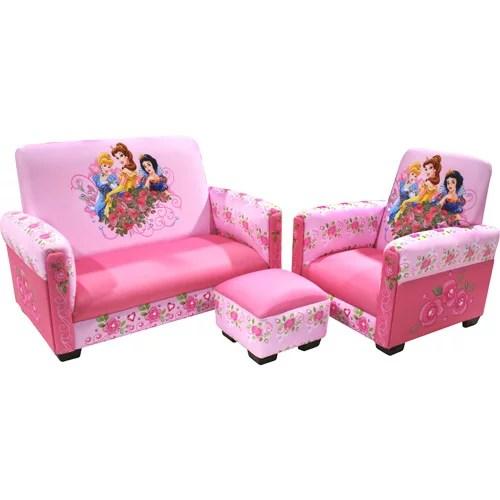 toddler sofa chair and ottoman set seating height disney princess jeweled gardens sofa, ...