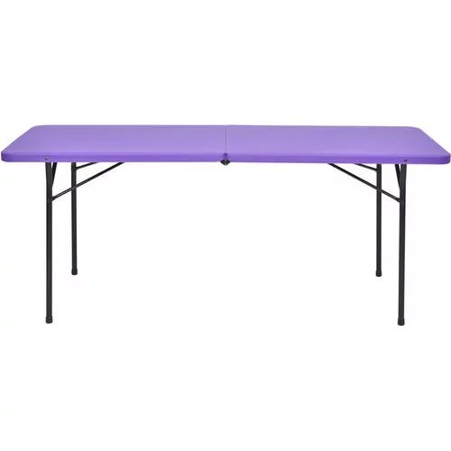 fold out chairs walmart office chair emoji mainstays 6' fold-in-half tailgate table, multiple colors - walmart.com