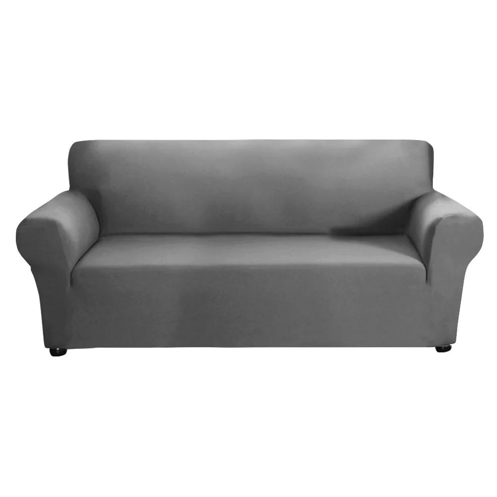aktudy dark grey milk silk elastic sofa cover thin stretch slipcovers 3 seaters walmart com