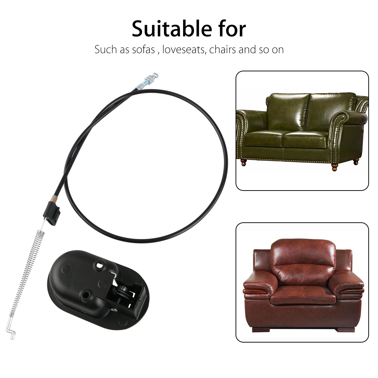 Universal Plastic Sofa Chair Recliner Release Pull Handle Replacement Parts With Cable Fits For Ashley And Most Major Recliner Brands Sofa Exposed Cable Length 4 75 Total Length 36 Walmart Com Walmart Com