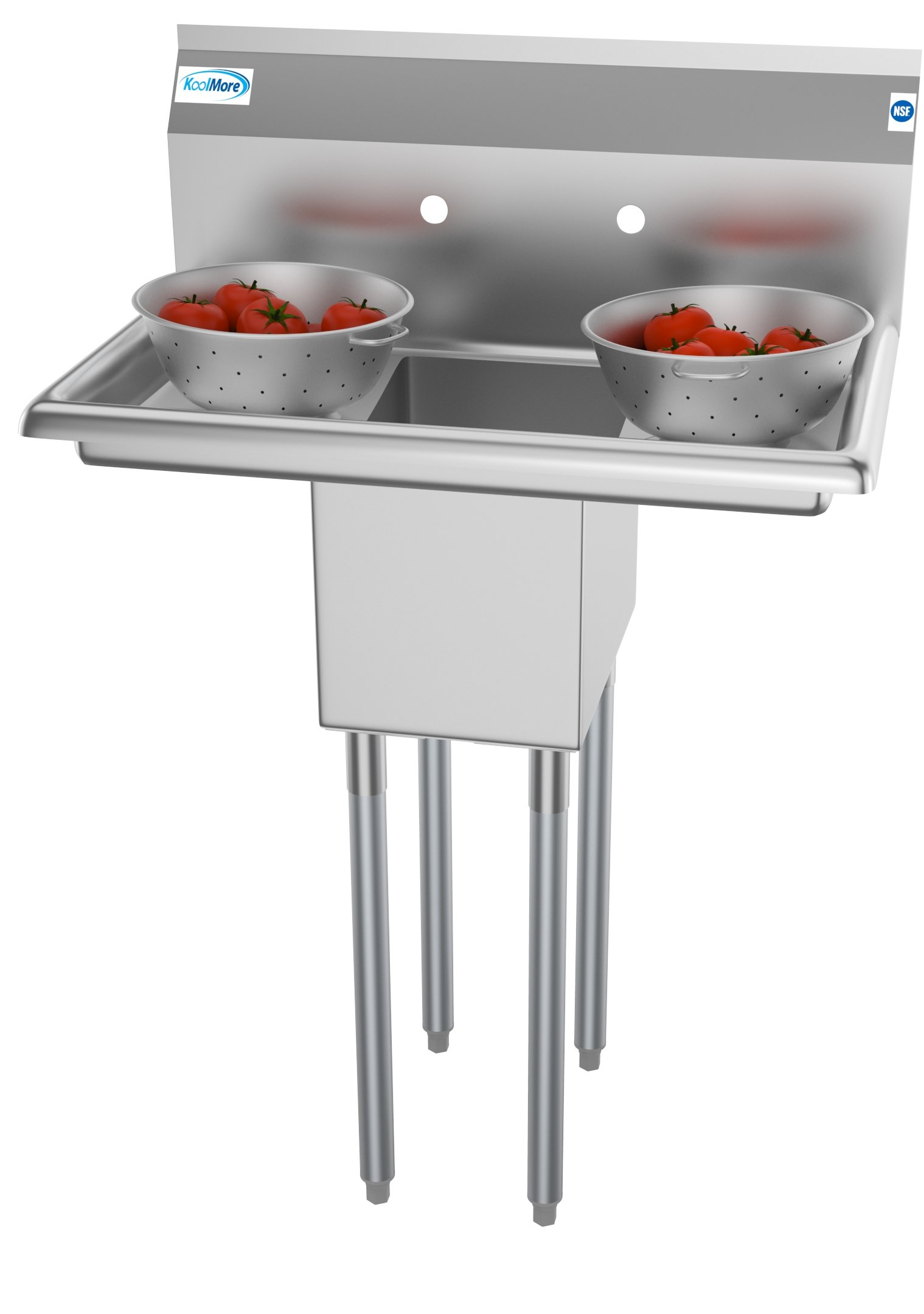 1 compartment 30 stainless steel commercial kitchen prep utility sink with 2 drainboards bowl size 10 x 14 x 10