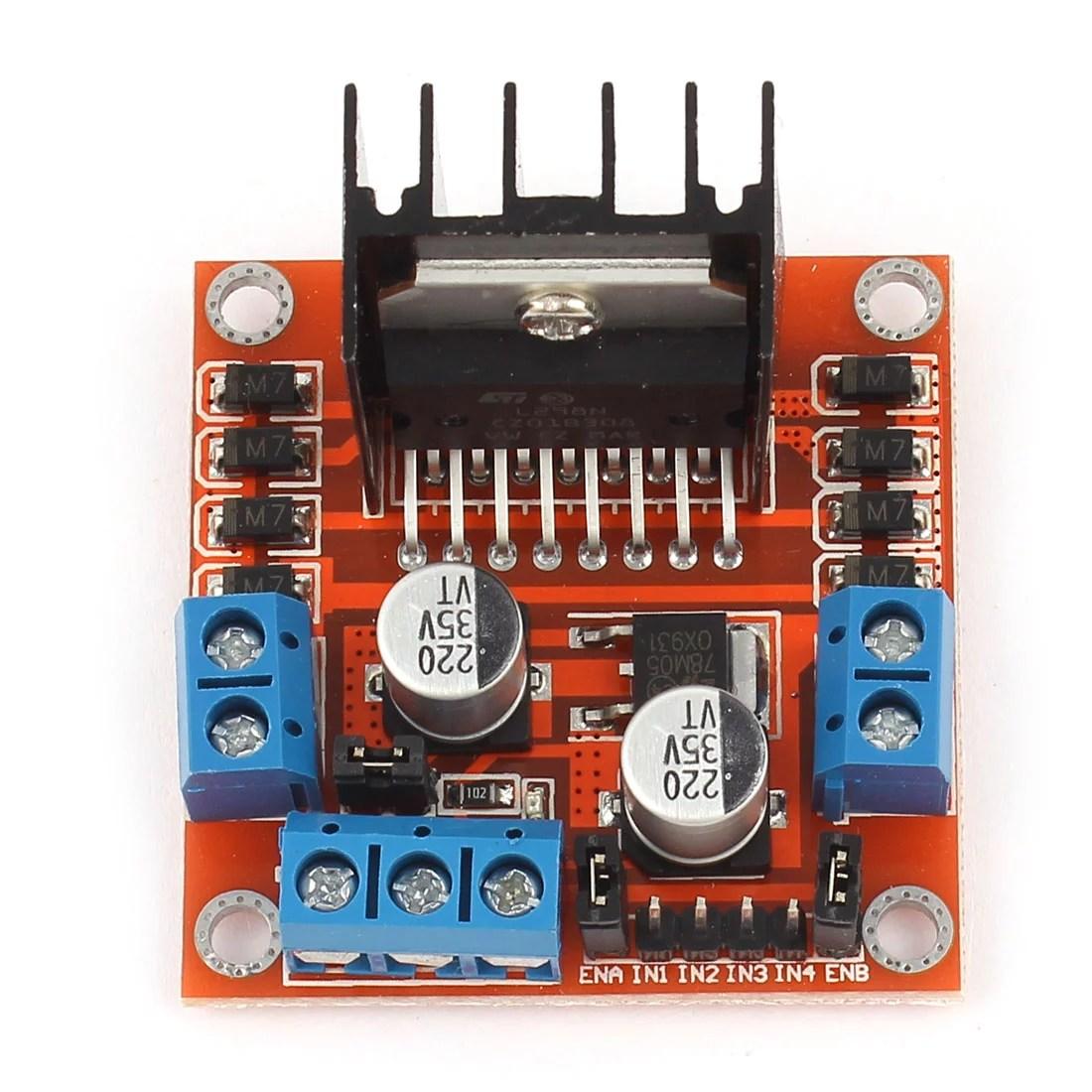 l298 h bridge circuit diagram fender squier bass wiring unique bargains l298n dual dc stepper motor drive controller board module for arduino walmart com
