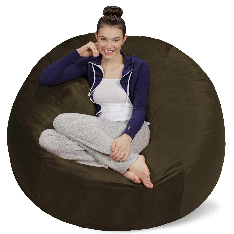 bean bag chairs rocking chair sale sofa sack memory foam 5 ft walmart com