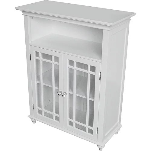 Heritage Double Door Floor Cabinet White  Walmartcom