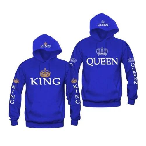 womens mens love matching shirts sweatshirts king queen matching couple hoodies
