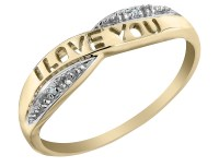 Gem And Harmony - I Love You Diamond Promise Ring in 10K ...