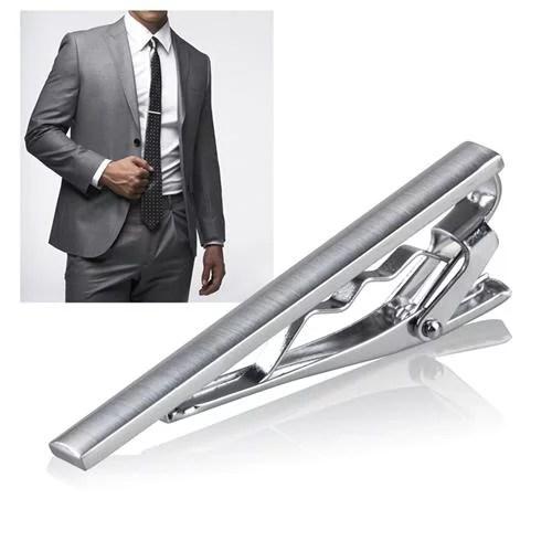 Zodaca Menswear Gentleman Silver Metal Simple Necktie Clip