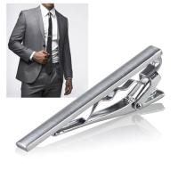 Zodaca Menswear Gentleman Silver Metal Simple Necktie Clip