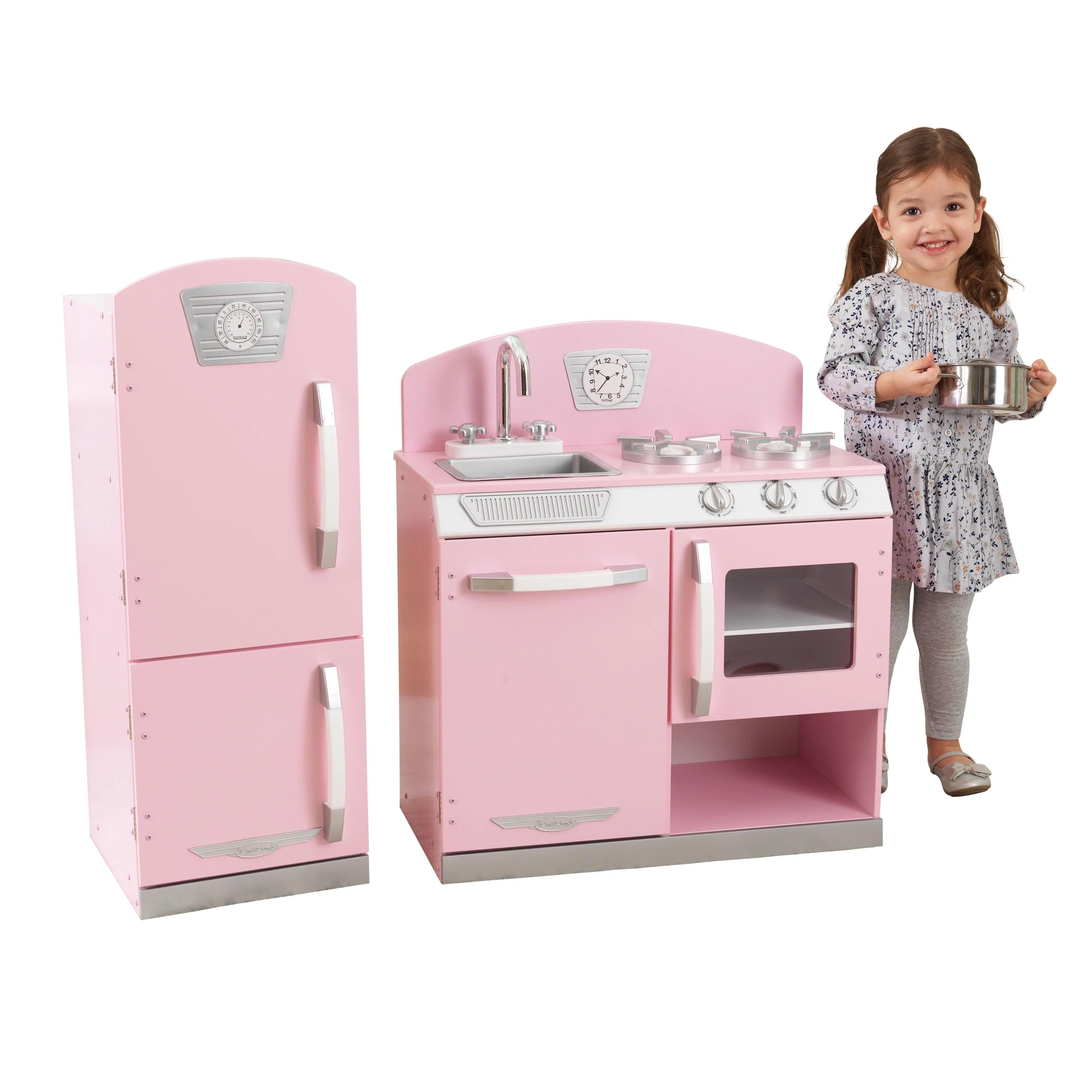 KidKraft Pink Retro Kitchen  Refrigerator  Walmartcom