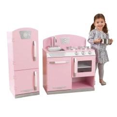 Retro Kids Kitchen Home Depot Sinks And Faucets Kidkraft Pink Refrigerator Walmart Com