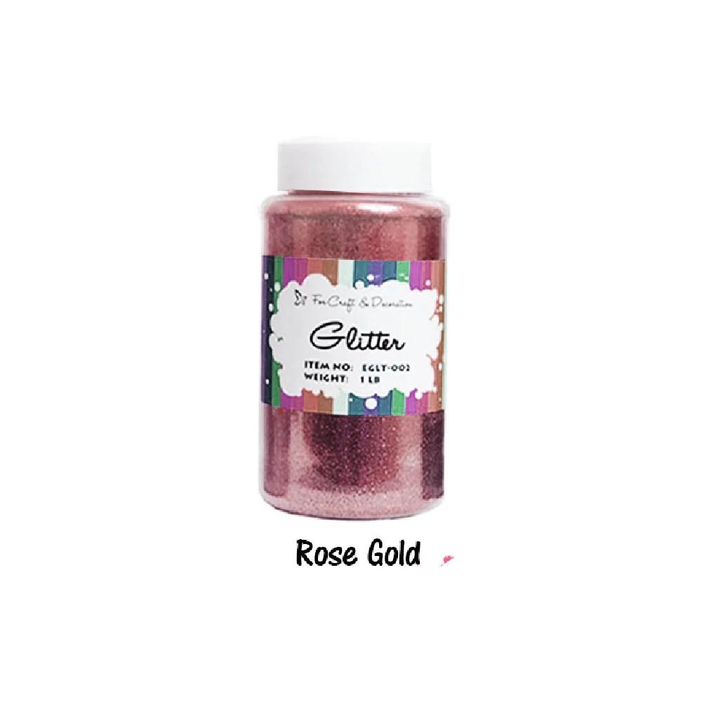 Craft Glitter Rose Gold Color 16oz 1lb Walmart Com Walmart Com