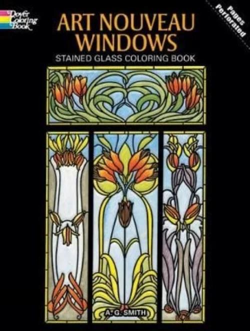 Art Nouveau Windows Coloring Book