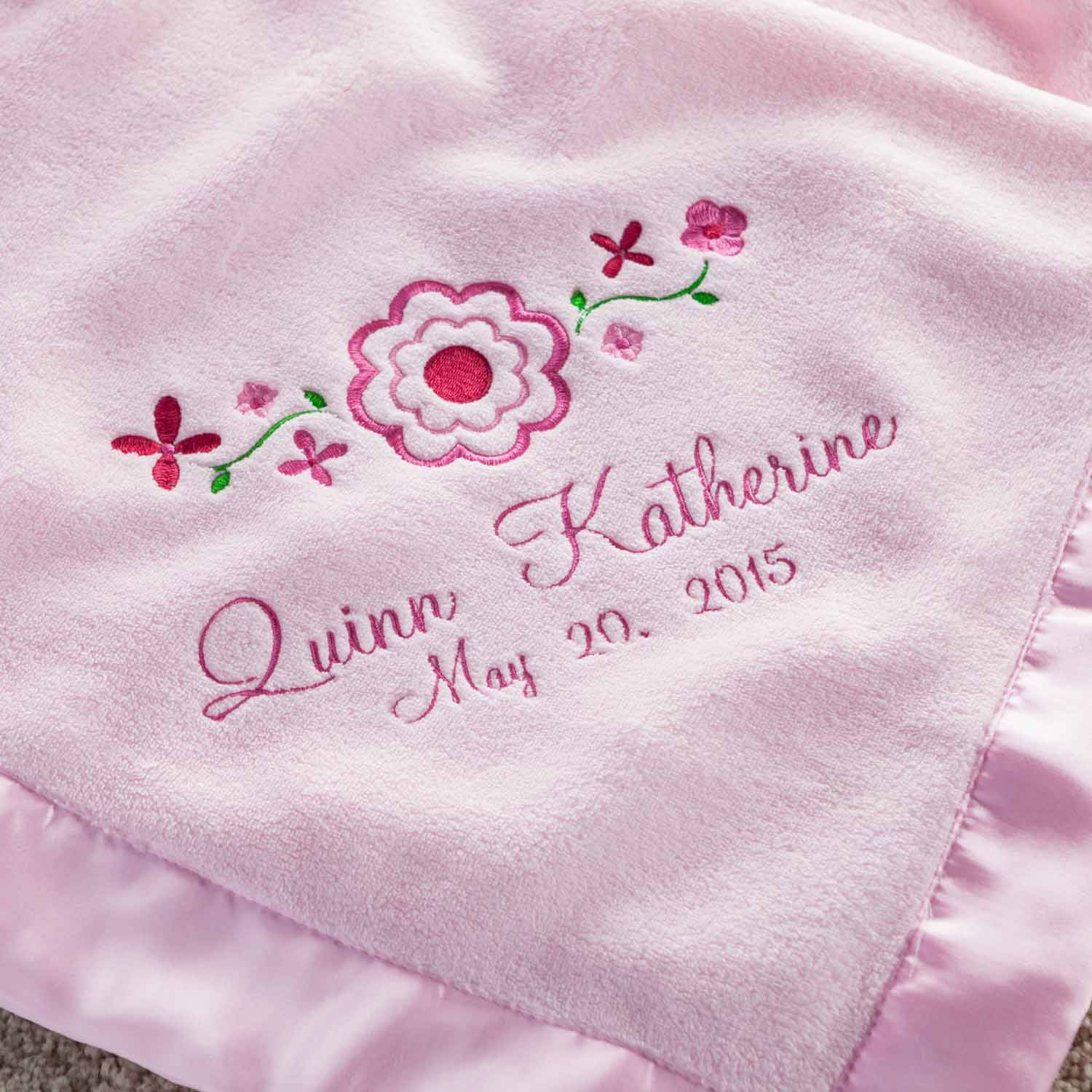 personalized pretty flowers pink