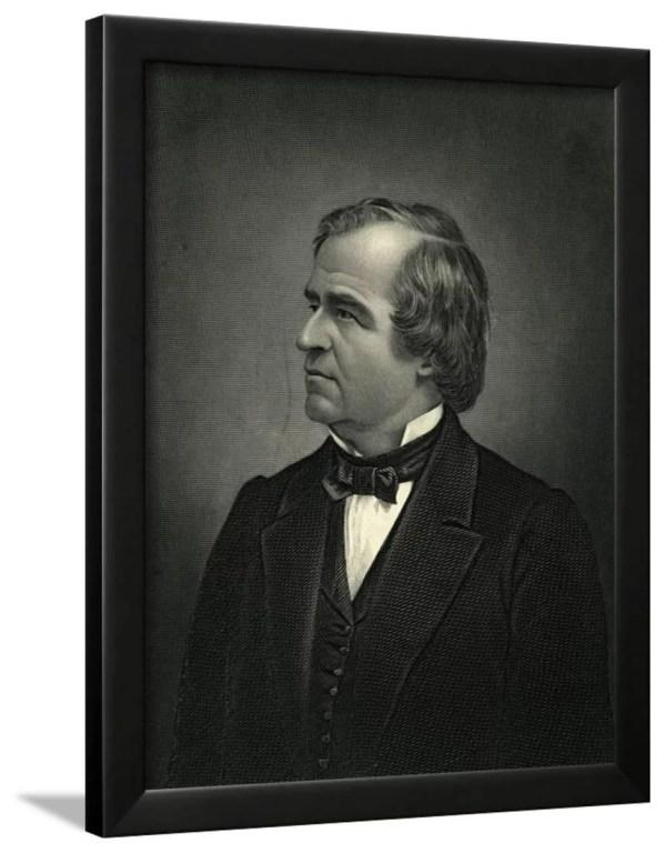 Portrait of President Andrew Johnson Framed Print Wall Art