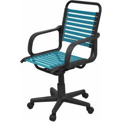 Turquoise Office Chair Contemporary Dining Your Zone Bungee Turquiose Walmart Com