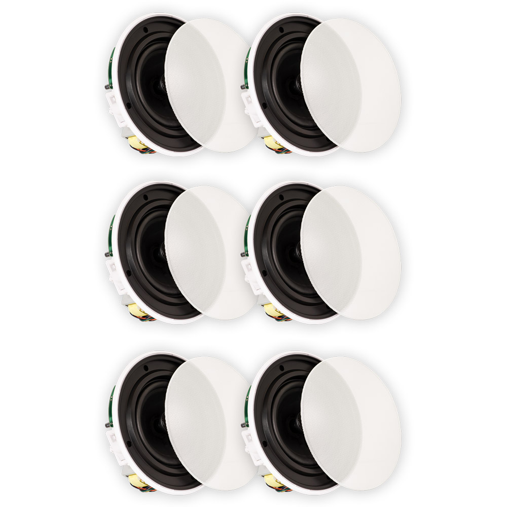 volt speakers thermo king v250 wiring diagram theater solutions tsq670 in ceiling 70 6 5 quick install 3 pair pack walmart com