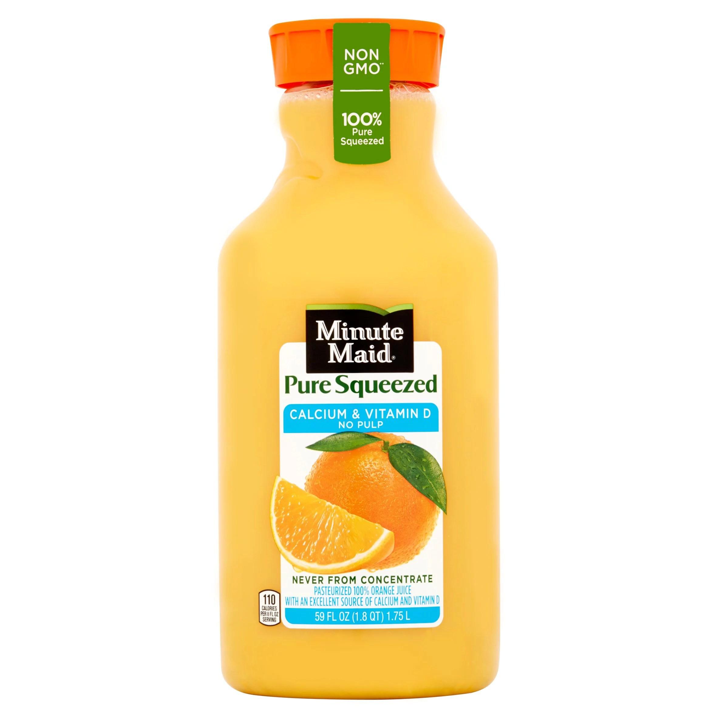 Minute Maid Pure Squeezed Pasteurized 100% Orange Juice ...