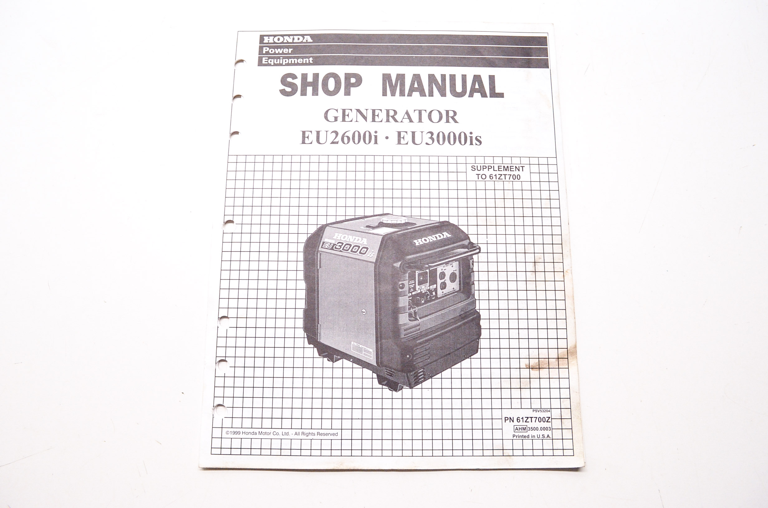 Power Equipment Service Shop Manual Generator Supplement