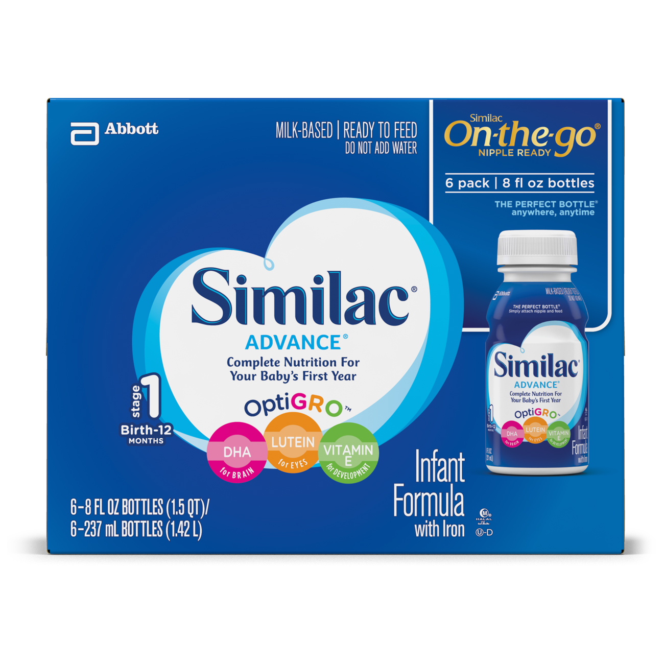 Similac Advance Infant Formula with Iron Ready to Feed 8 ...