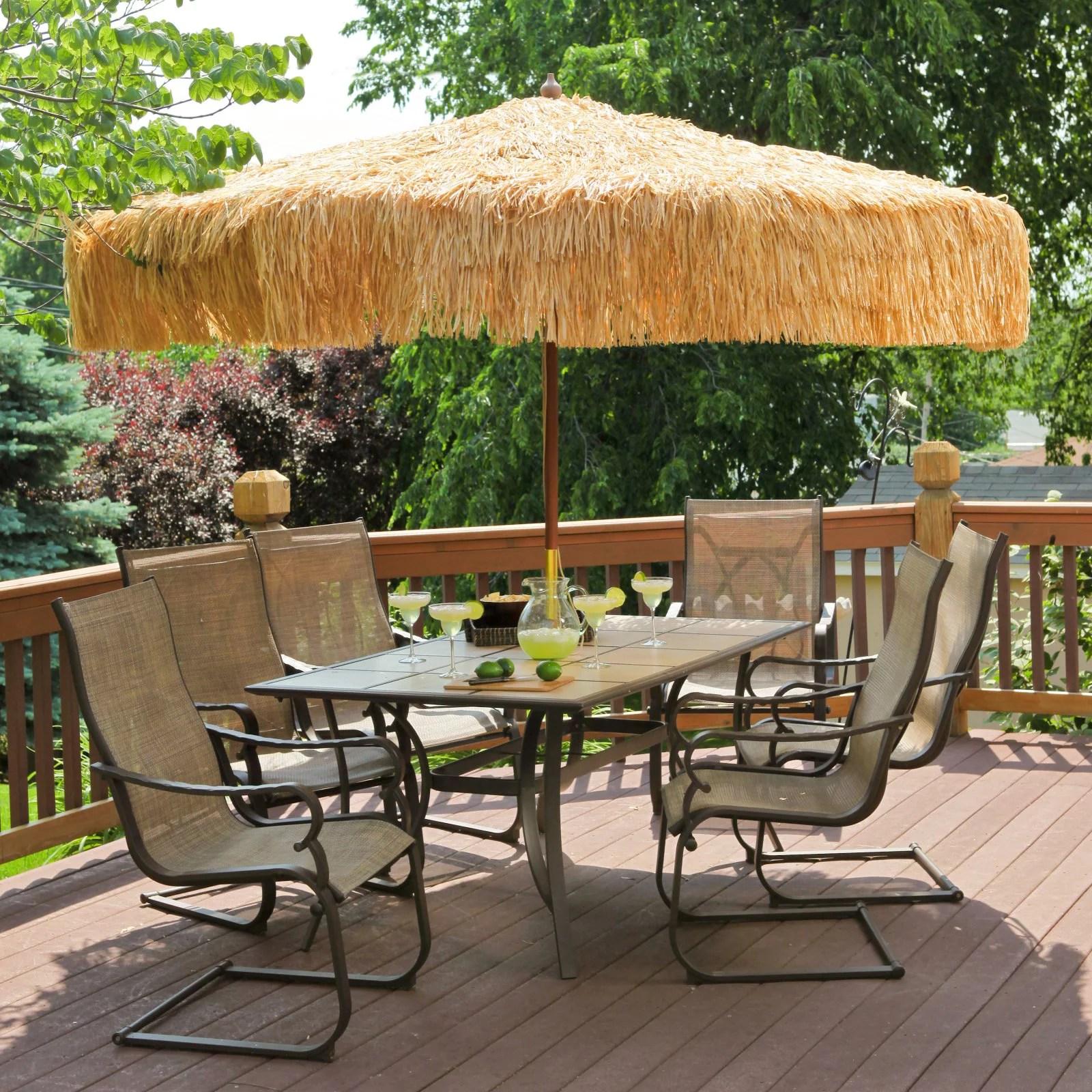 https www walmart com ip destinationgear palapa tiki umbrella 9 whiskey brown patio pole 46101059
