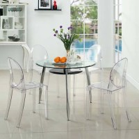 Modway Casper Stackable Dining Side Chair, Set of 4 in ...