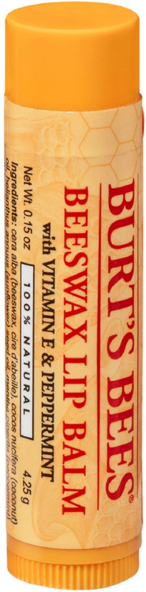 3 Pack - Burt's Bees Beeswax Lip Balm with Vitamin E ...