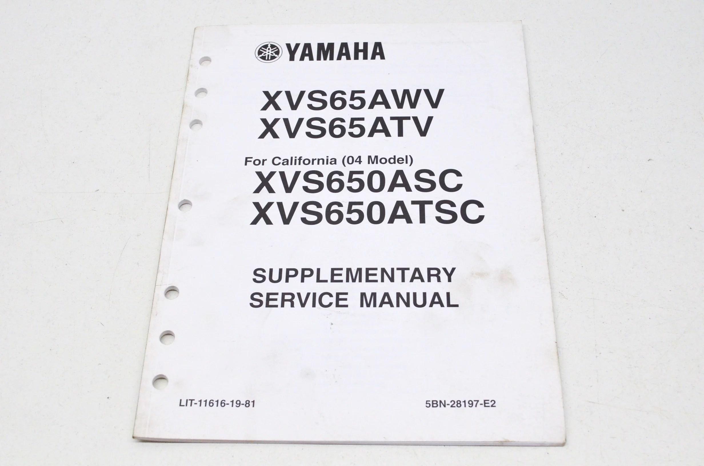 Yamaha LIT-11616-19-81 Supplementary Service Manual