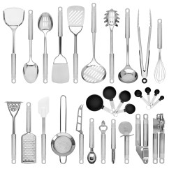 Kitchen Utensils Sink Manufacturers Best Choice Products Set Of 29 Stainless Steel Cookware W Spatulas Can And Bottle Openers Measuring Cups Whisk Ladles Tongs
