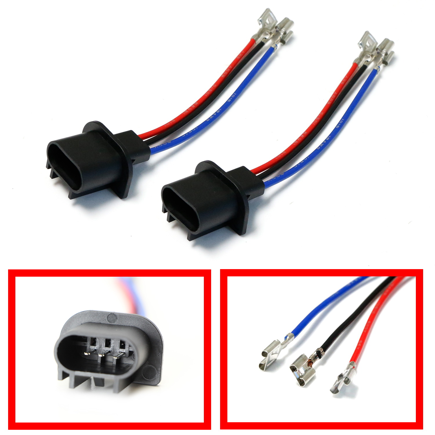 hight resolution of ijdmtoy 2 h13 9008 to 9007 9004 or 9003 h4 polarity adjustable conversion adapter wiring kit for headlight conversion retrofit walmart com