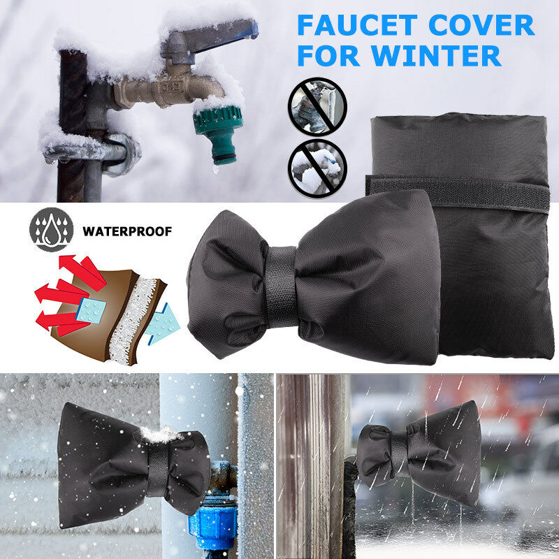winter outdoor faucet cover sock for cold weather and freeze protection