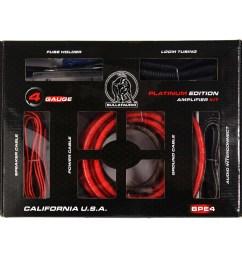 bullz audio 4 gauge 3000w professional car amplifier wiring amp kit red bpe4r walmart com [ 2000 x 2000 Pixel ]