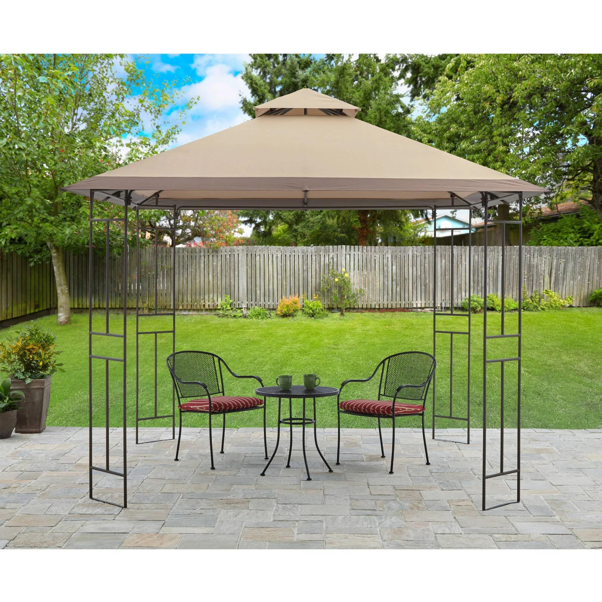 mainstays toni 10 x 10 outdoor patio gazebo walmart com