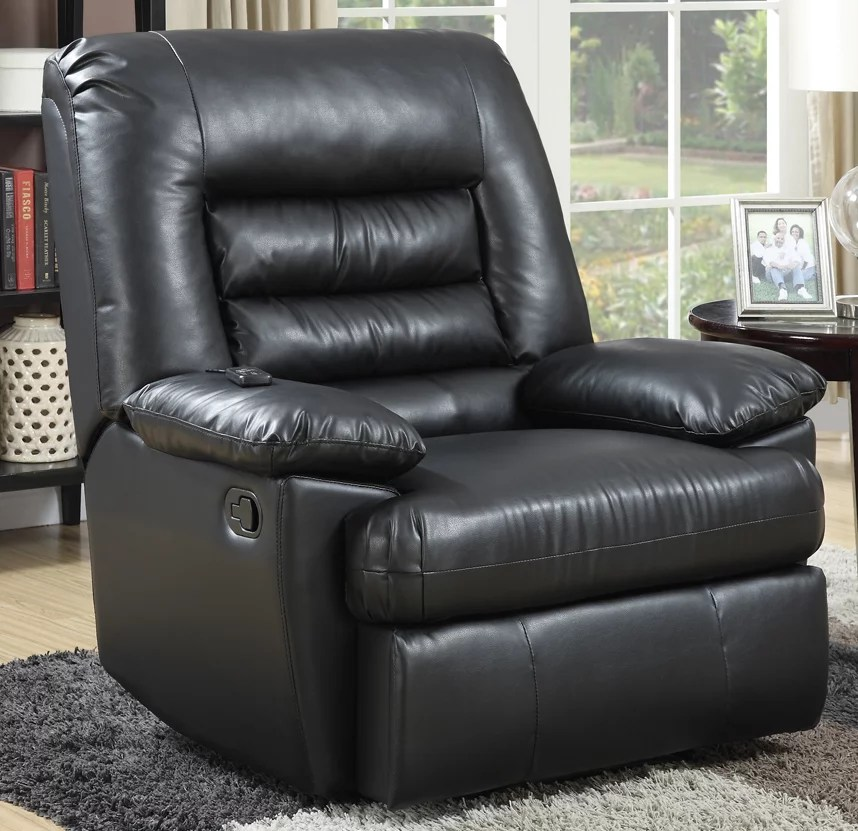 Serta Big Tall Memory Foam Massage Recliner Black  eBay