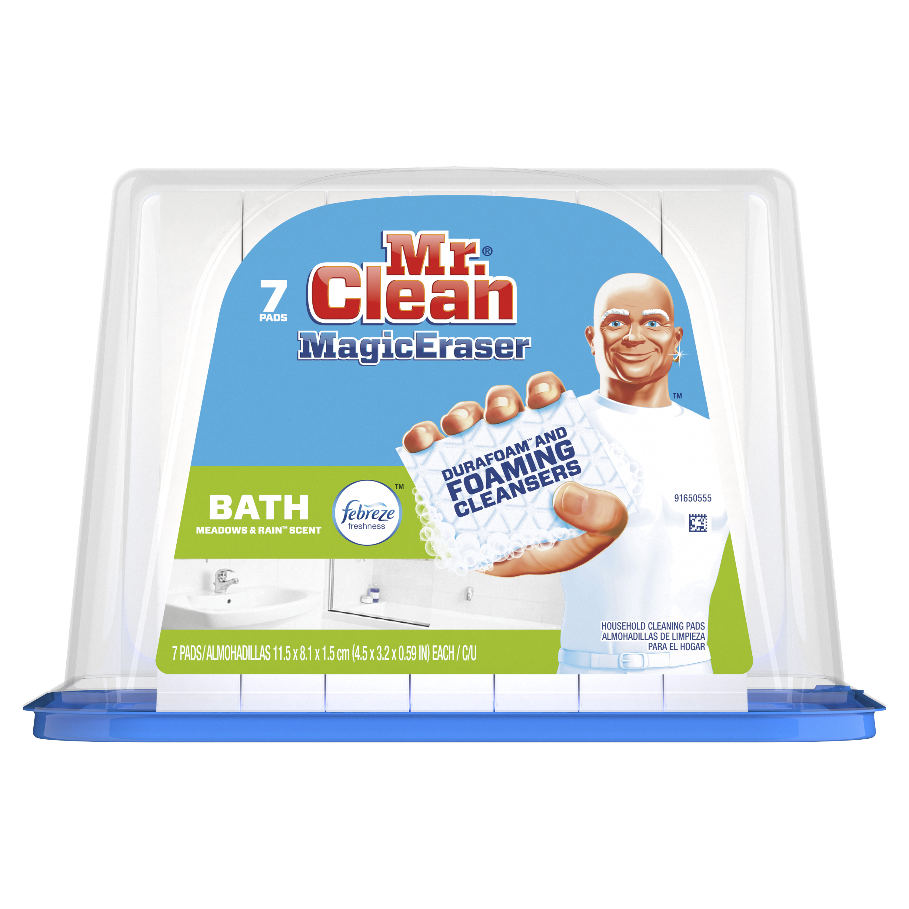 Mr Clean Magic Eraser Bath Cleaning Pads with Durafoam 7 count  Walmartcom