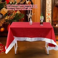 Party Chair Covers Walmart Movie Theater Eecoo Red Table Cloth Cover Ornaments For Christmas Household Festival Decor Com