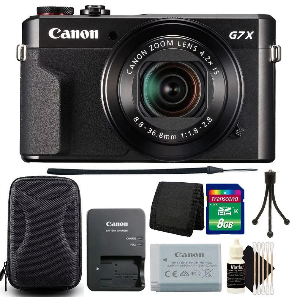 Canon PowerShot G7 X Mark II Digital Camera with 8GB Accessory Bundle