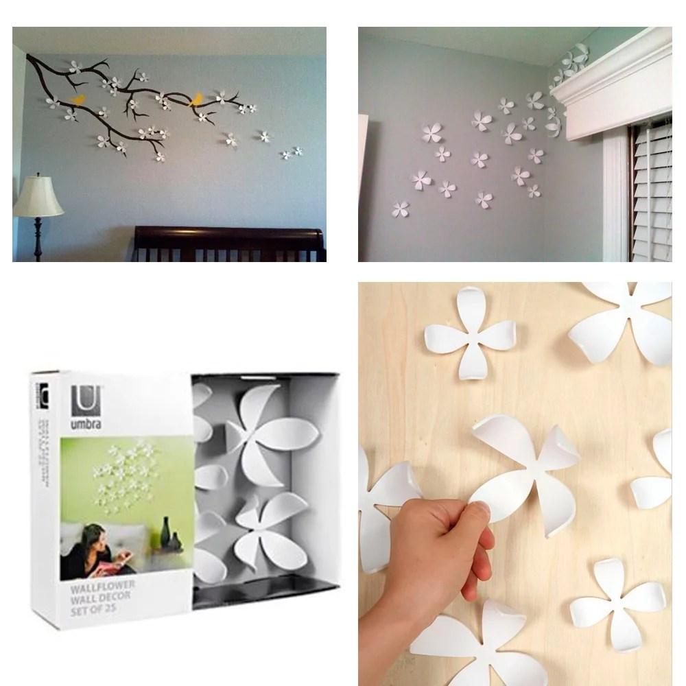 Umbra Wallflower Wall Decor 25 Flowers White Diy Nature