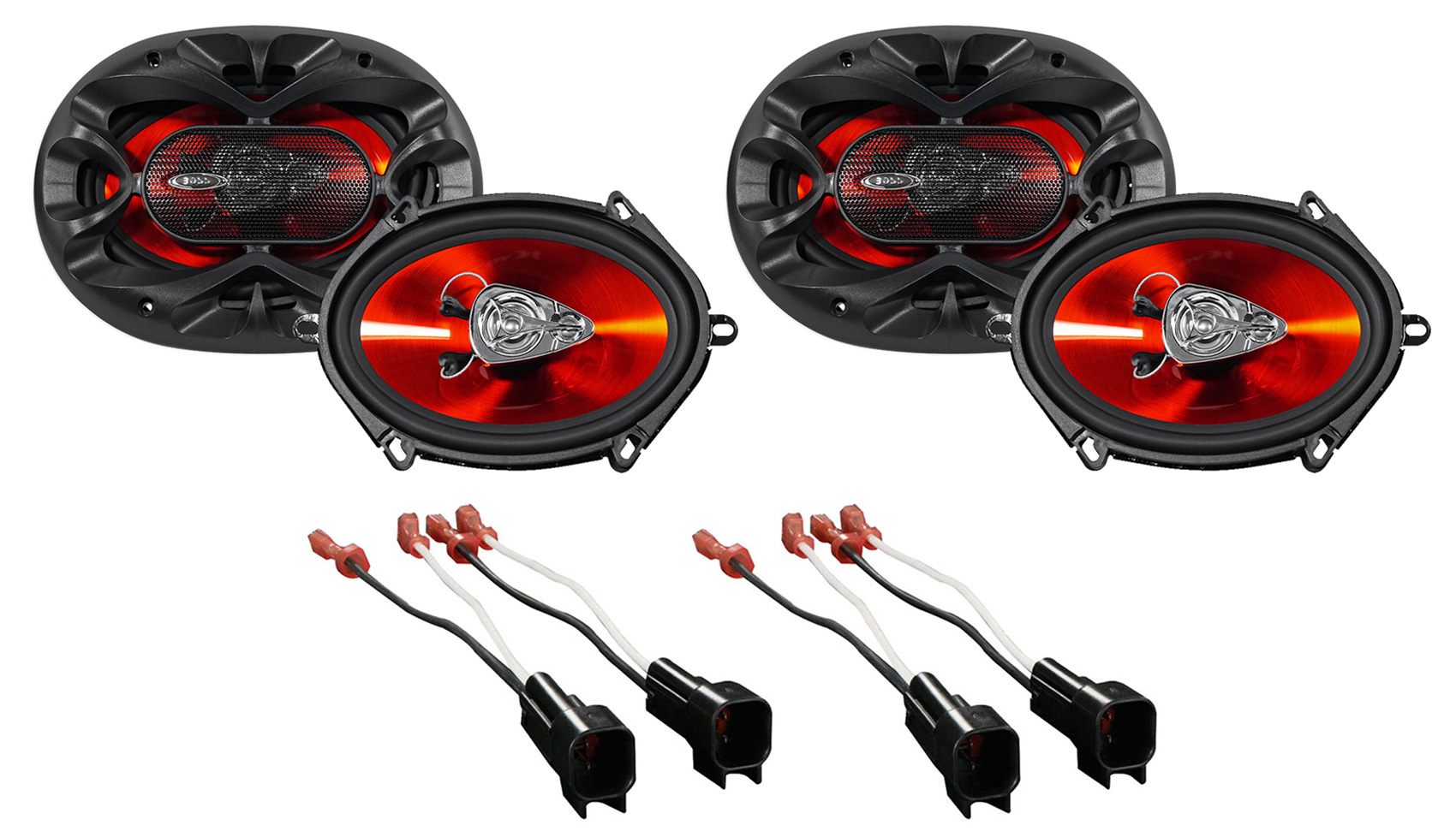 hight resolution of boss 5x7 front rear factory speaker replacement kit for 2007 ford mustang walmart com