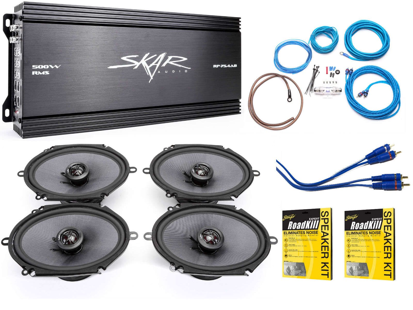 medium resolution of skar audio 6 x8 complete elite speaker upgrade package with skar audio subwoofer wiring diagram skar audio wiring