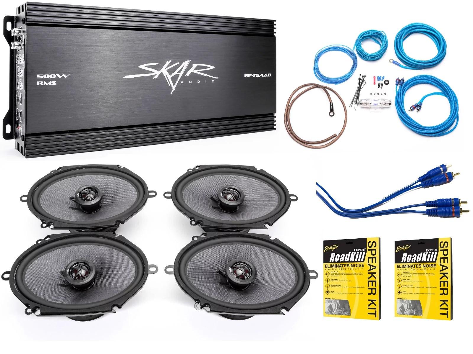 small resolution of skar audio 6 x8 complete elite speaker upgrade package with skar audio subwoofer wiring diagram skar audio wiring