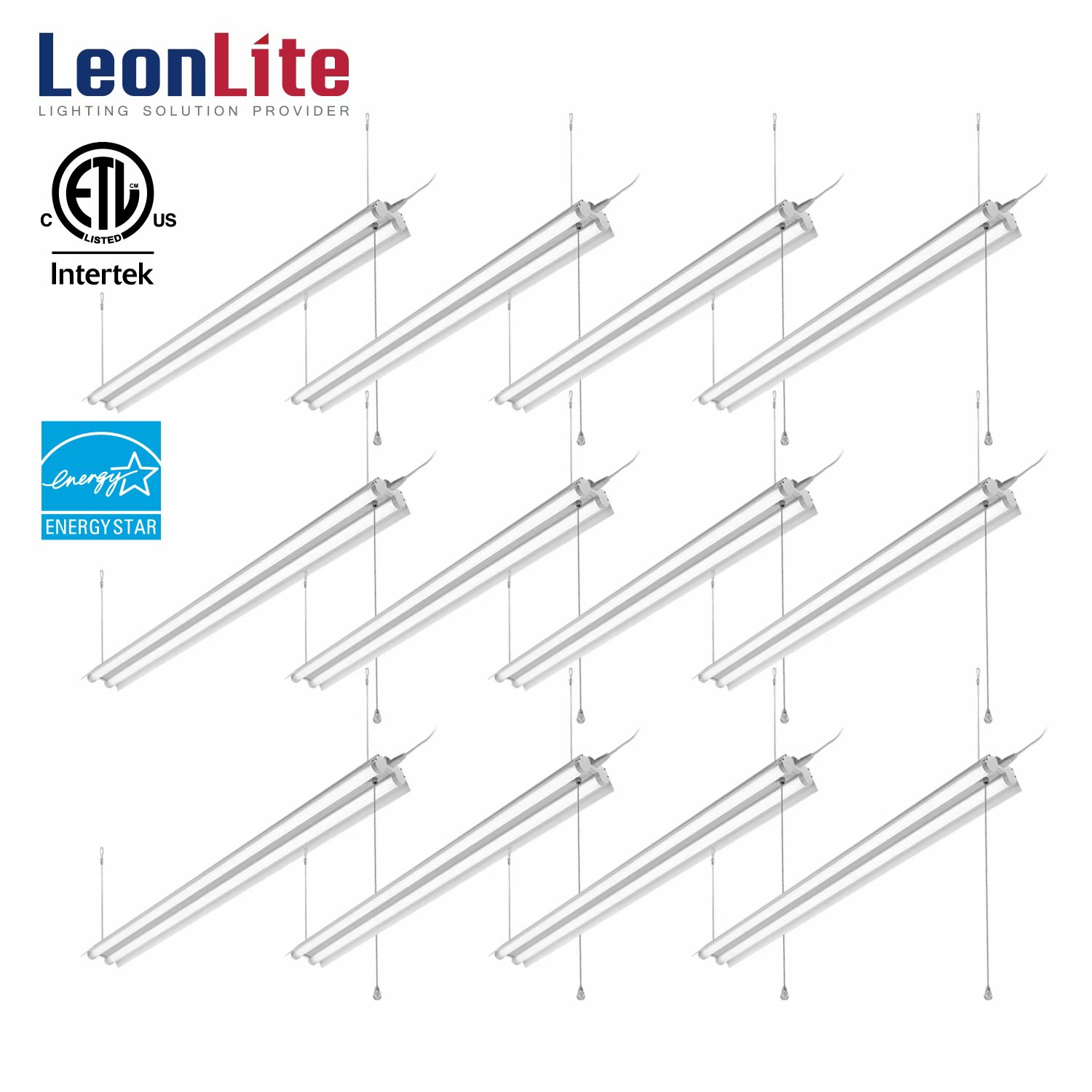 40w 4ft Linkable Led Utility Shop Light Double Tube T8 Led Lm For Garage Workbench
