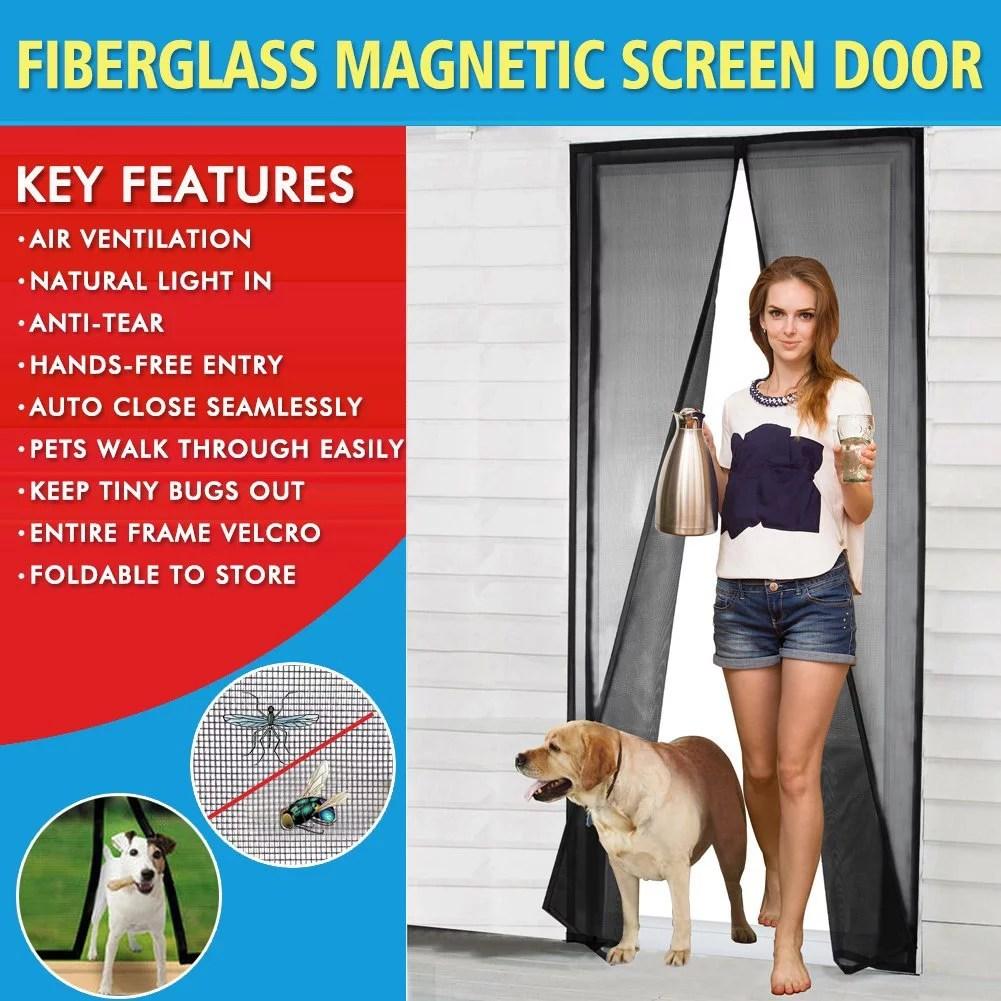 magnetic screen door 2017 mesh screen door with magnets fly mosquitos bug insect screen for sliding glass door french door patio door full frame
