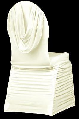 ruched spandex chair cover reclining pc gaming swag back banquet ivory 2 pk walmart com