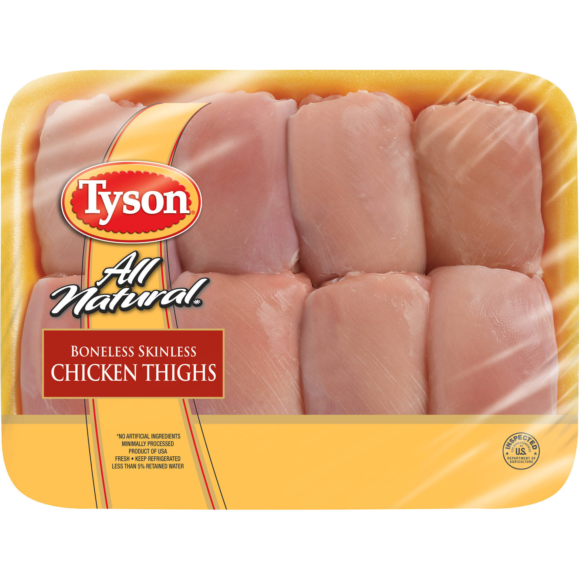 Tyson Boneless Skinless Chicken Thighs 18 lbs Walmartcom
