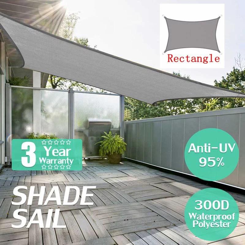waterproof sun shade uv blocker patio paradise sail rectangle canopy permeable uv block fabric durable outdoor