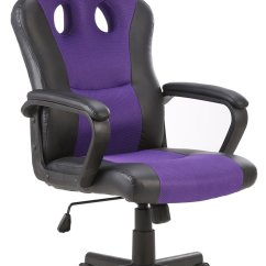 Purple Swivel Chair Unusual Tub Seatzone Smile Face Series Leather Gaming Racing Style Large Bucket Seat Computer Desk