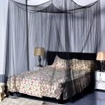 4 Corner Post Bed Canopy Mosquito Net Full Queen King Size Netting Bedding Black Walmart Com Walmart Com