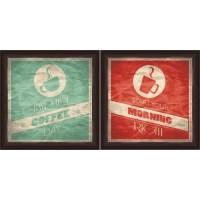 "Framed Graphic ""Coffee"" Wall Art, Espresso Frame, Set of 2 ..."